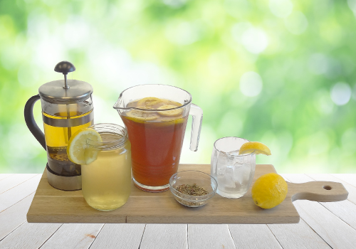 Cold brew lemon teas